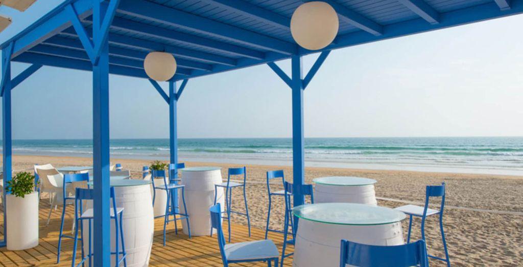 Ou bien à la plage, tout proche de l'hôtel
