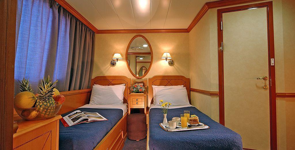 Offrant des cabines agréables