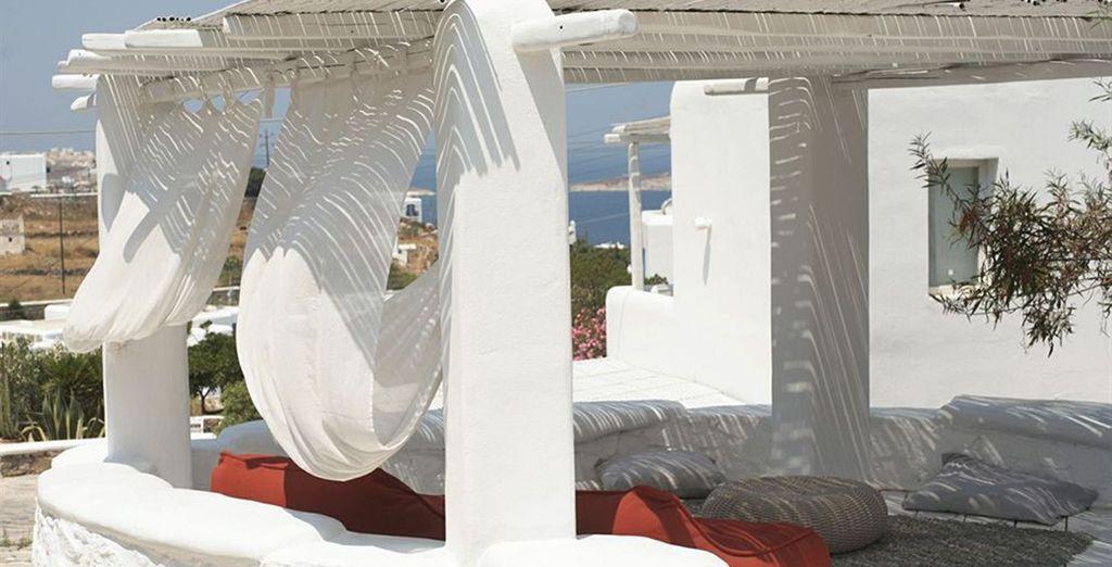 Et rêvez sous le doux climat ensoleillé de Mykonos...