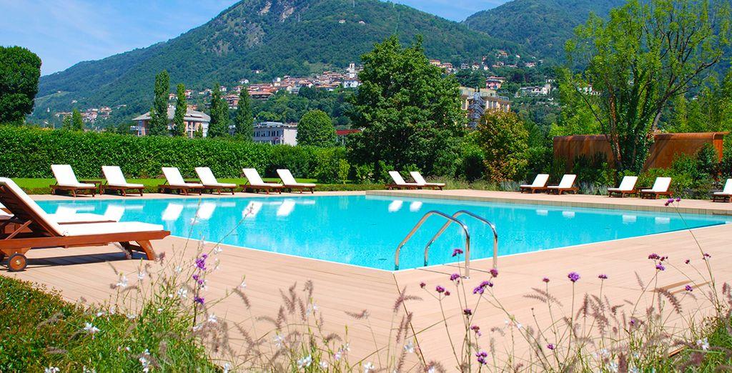 Nature, ciel bleu et cadre verdoyant... -  Grand Hôtel di Como 4* Como