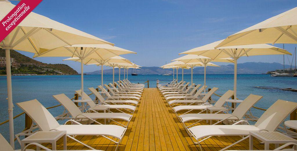 Vous rêvez de parcourir ce ponton jusqu'aux eaux bleues de la mer ?