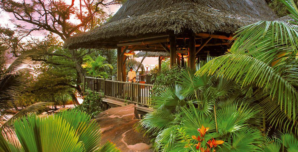 Un Spa luxueux by Clarins sur une île privée...