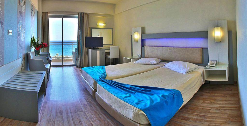 Profitez d'une chambre vue mer ou d'une chambre Familly