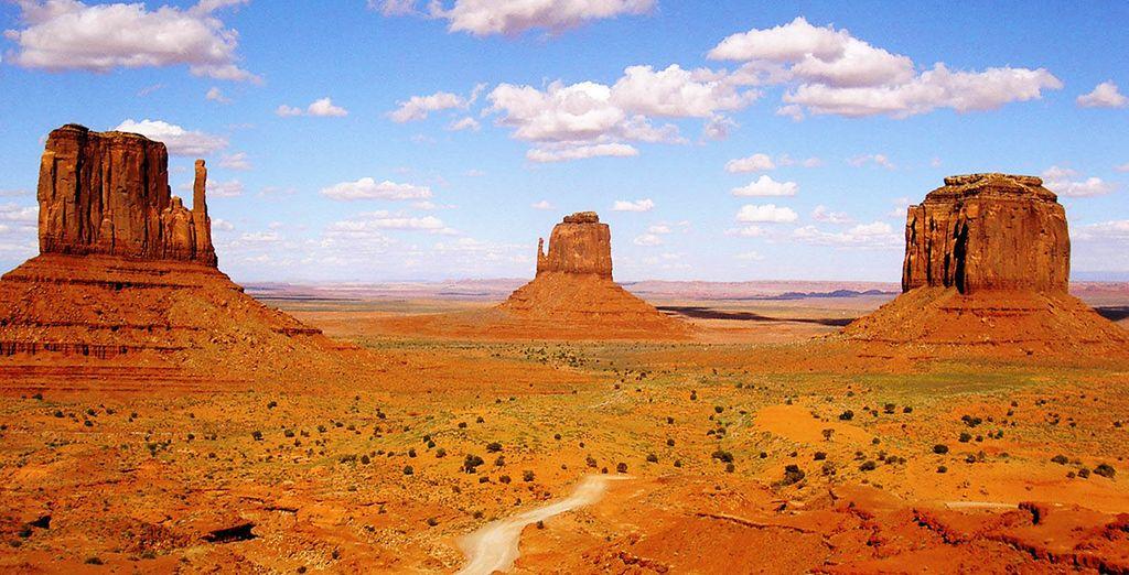 De la célèbre Monument Valley...