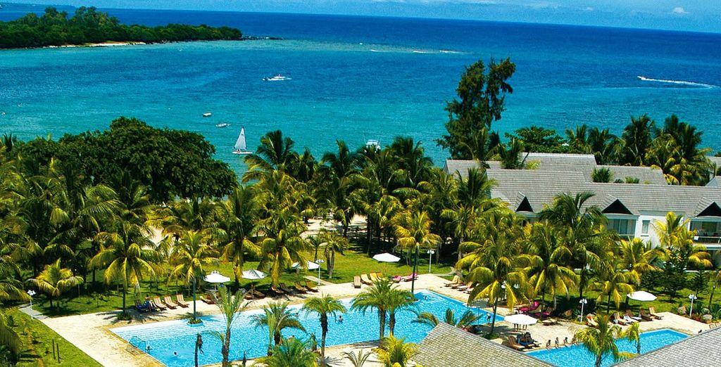 Hôtel de luxe à l'île Maurice, tout confort avec piscine et spas