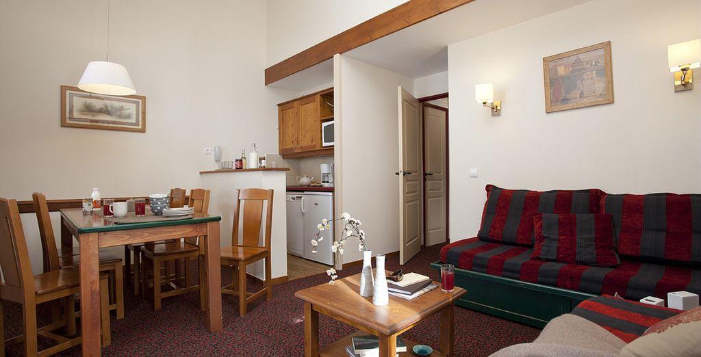 En appartement spacieux et confortable
