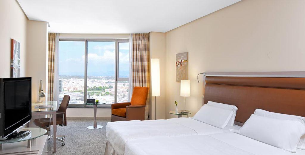 Installez-vous en chambre Melia, avec vue sur la ville