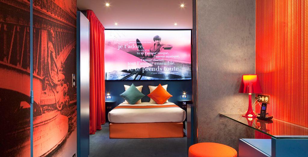 La chambre Deluxe Guillaume Apollinaire et Lou