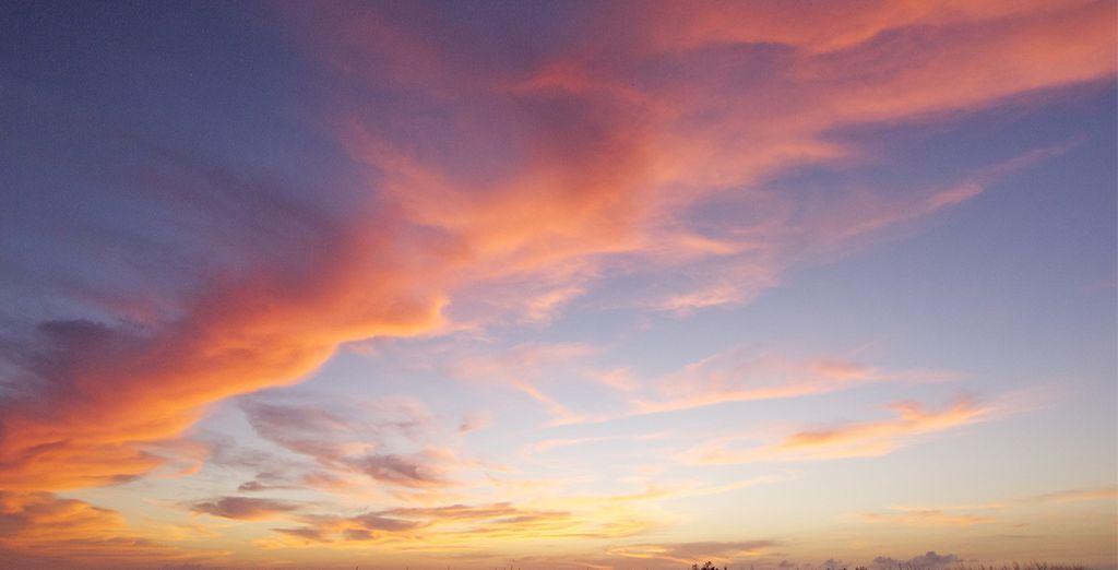 Et ses couchers de soleil paradisiaques