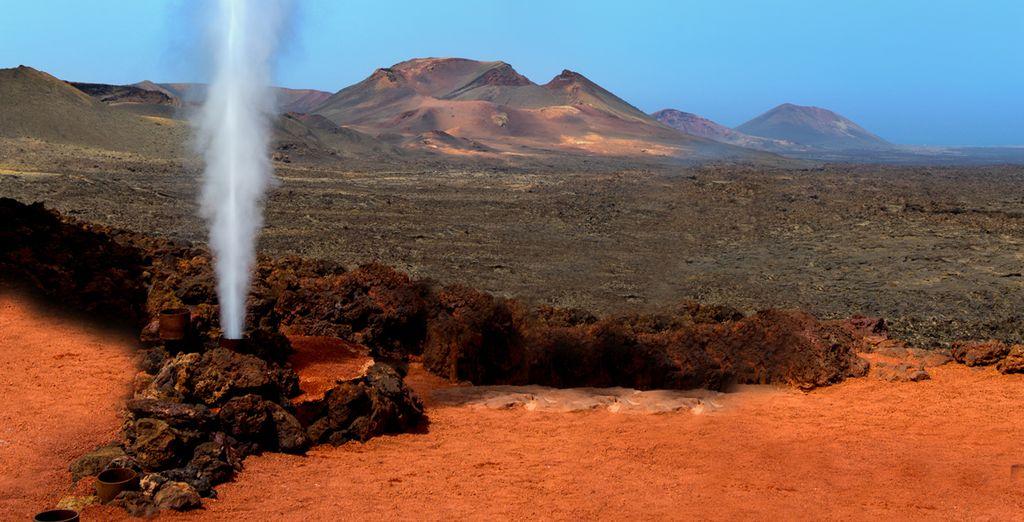 & le rouge des terres volcaniques... Vous allez en voir de toutes les couleurs !