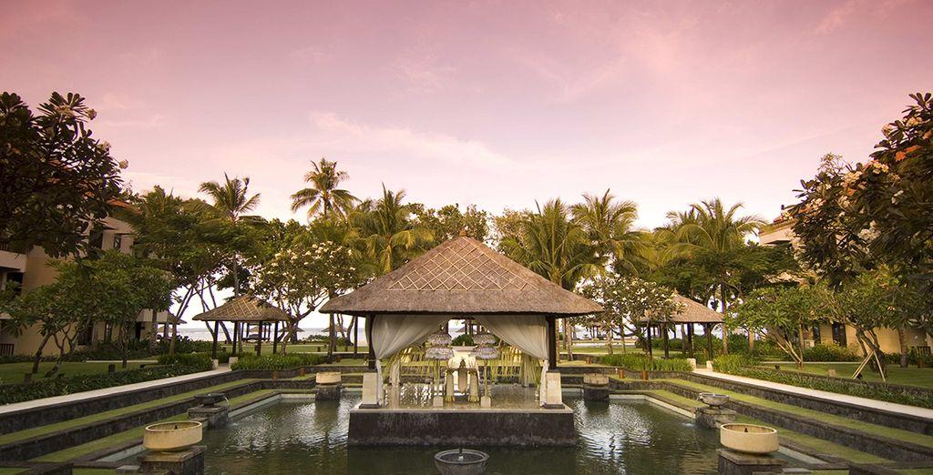 Depuis le magnifique hôtel Conrad Bali !