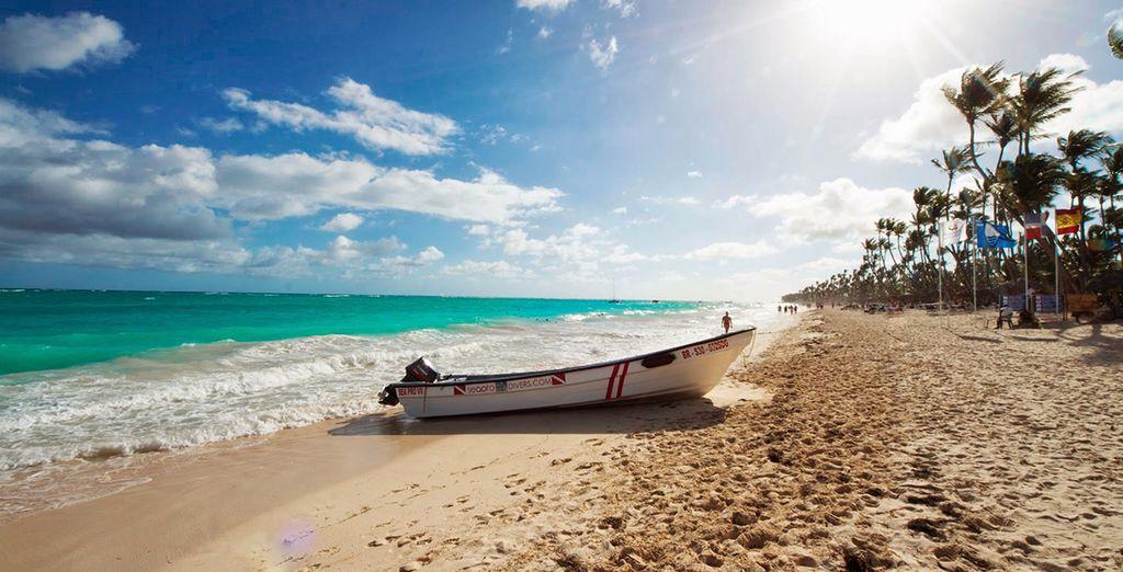 Rejoignez au plus vite cette sublime plage de sable blond