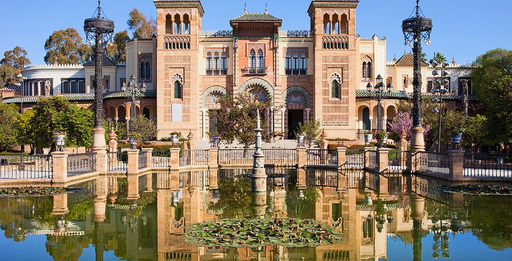 Photographie du parc de Maria Luisa et ses belles architectures