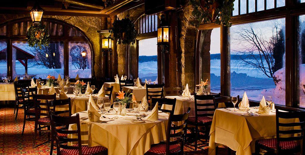 Et dînerez dans l'un des restaurants au charme incontestable