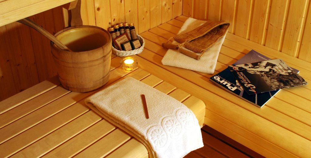 Accordez-vous un instant bien-être au sauna...