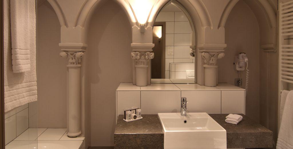 Et où les salles de bains sont spacieuses et authentiques
