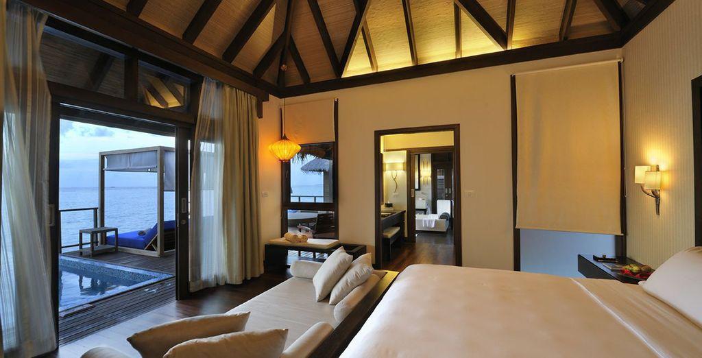 une magnifique chambre vous attend