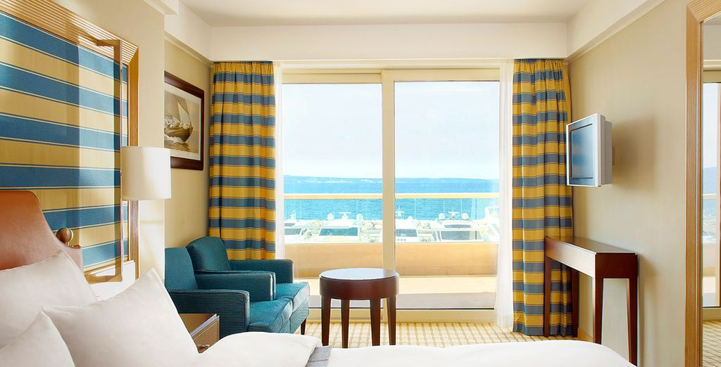 Posez vos valises en chambre Sea View