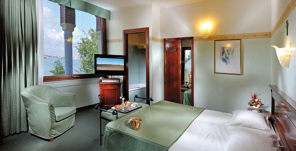Une chambre raffinée vous attend le temps d'une douce nuit...