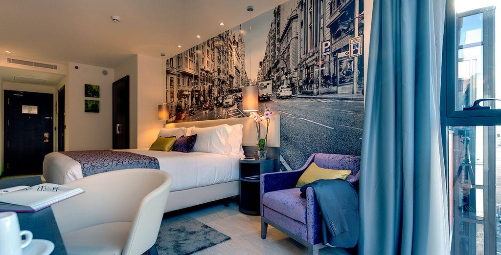 Poussez les portes de votre chambre, spacieuse et lumineuse...