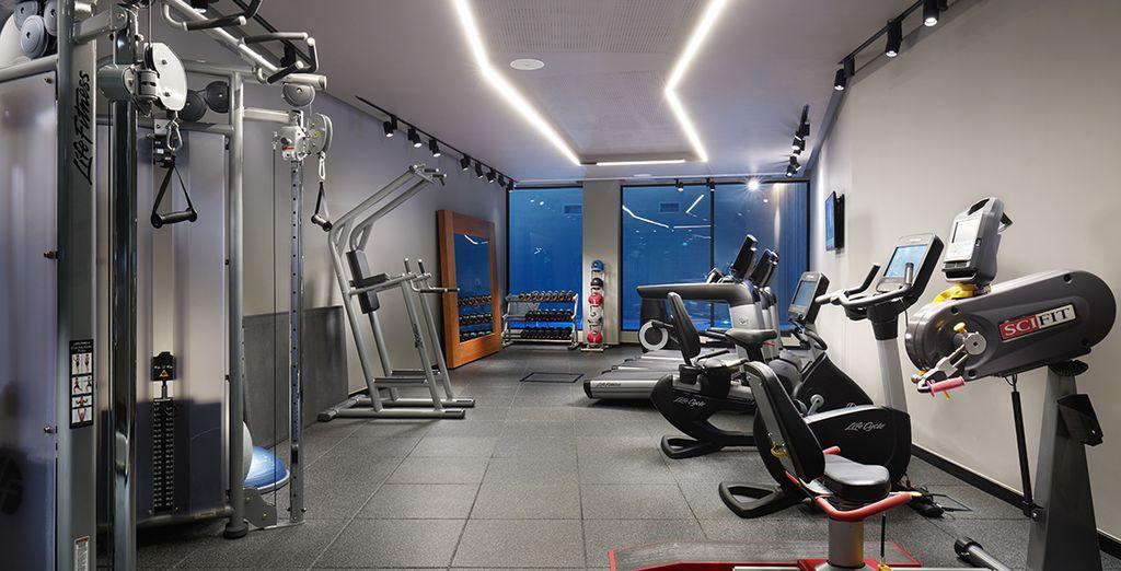 Maintenez votre forme à la salle de fitness...