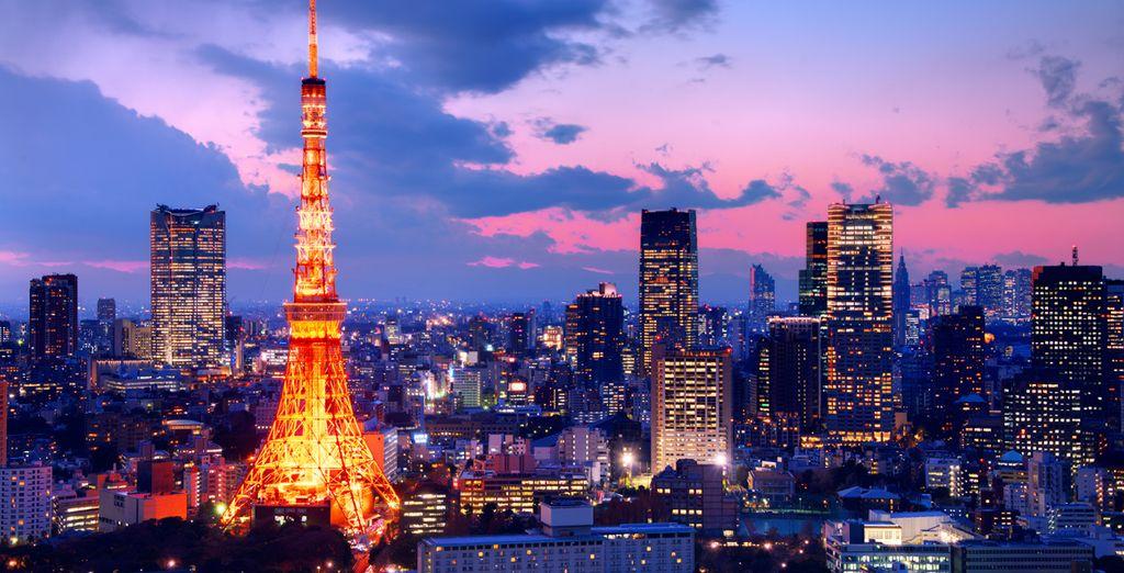 Vue de nuit de Tokyo et de la Tokyo Tower