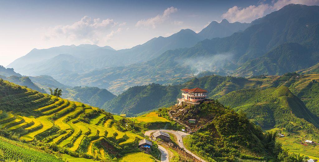 Porte d'entrée pour les paysages de rizières de la vallée de Mai Chau