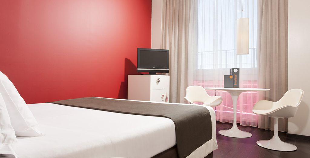 Dans toutes les chambres, confort et design seront de mise