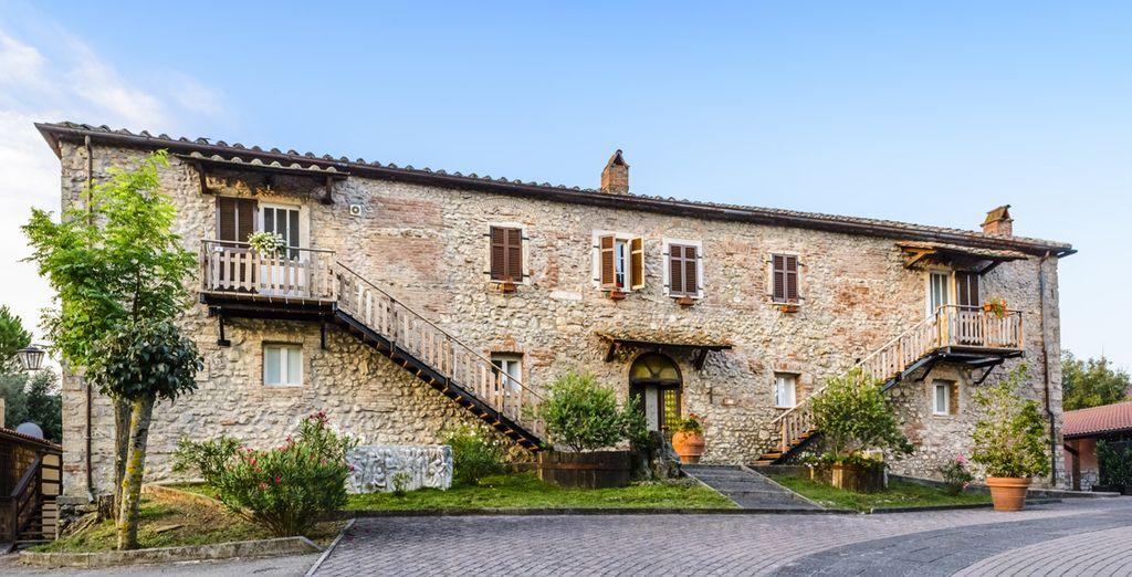 Un magnifique complexe niché dans les collines italiennes...