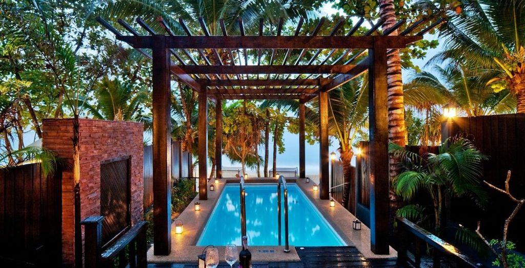 Dotée d'une magnifique piscine privée