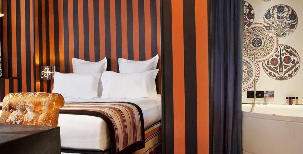 Posez vos valises en chambre découverte, à la décoration somptueuse