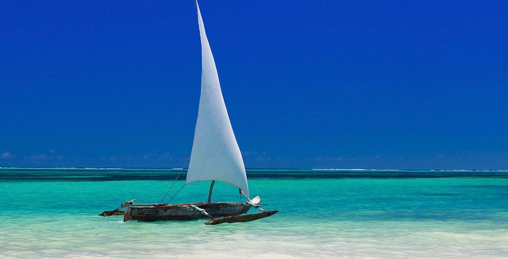 Au nord-ouest de l'île de Zanzibar