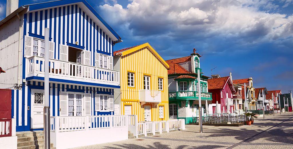 Et ses maisons colorées...