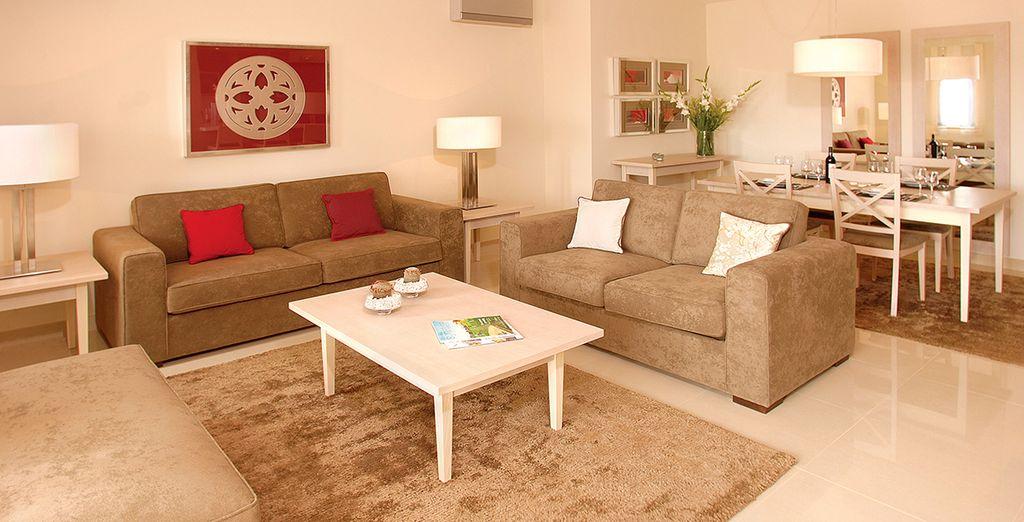 Installez-vous dans un appartement spacieux