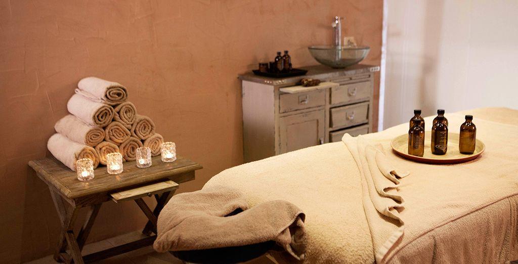 Détendez-vous lors d'un massage bien mérité