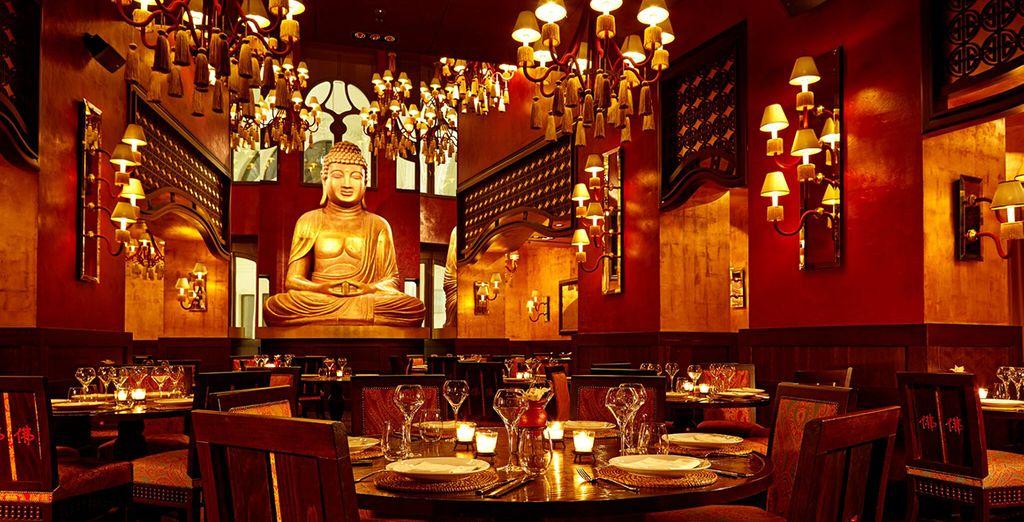 Et dînez dans un endroit luxueux