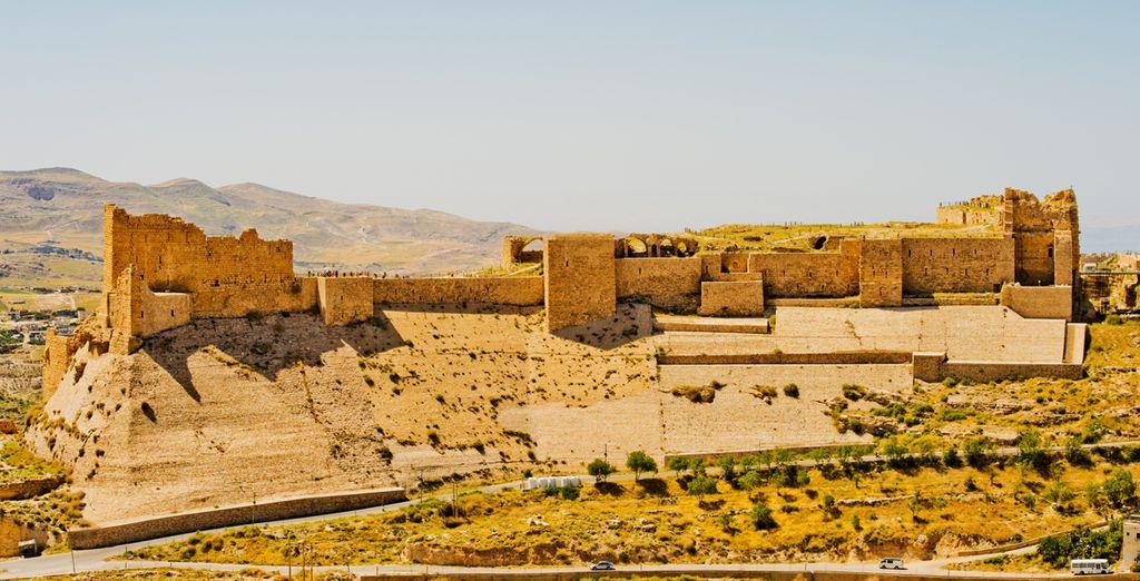 Pourrez observer Kérak et sa forteresse, plus beaux châteaux des croisés...