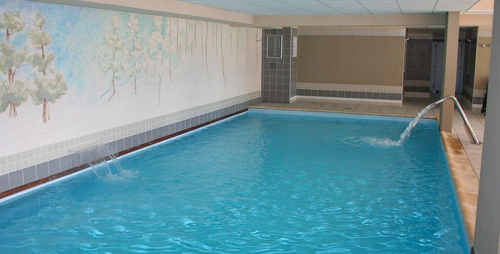 Puis relaxez-vous dans la piscine chauffée