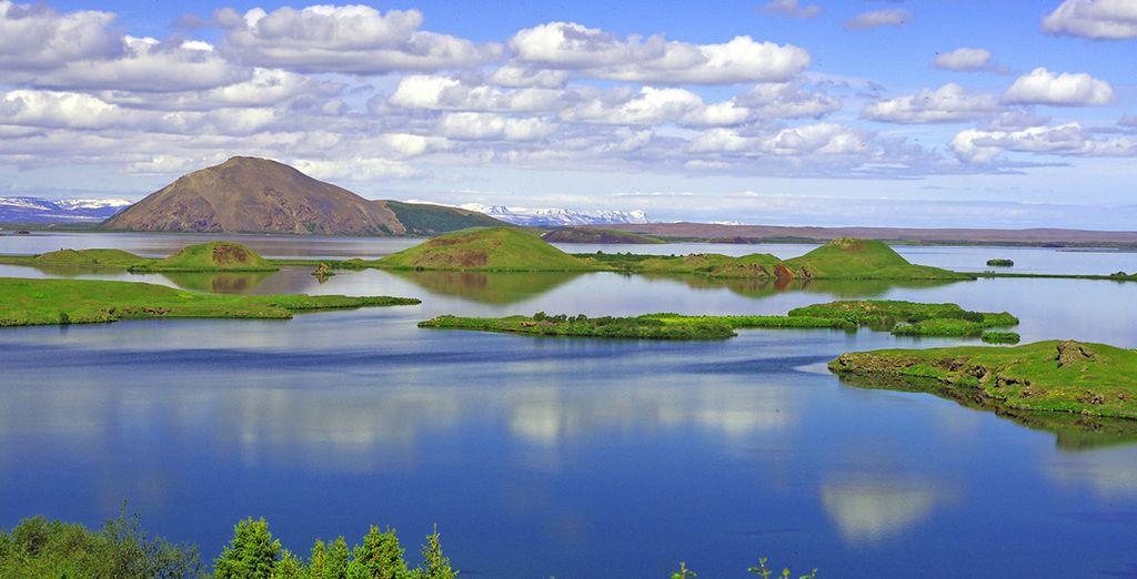 Les paysages mystérieux du lac Mývatn
