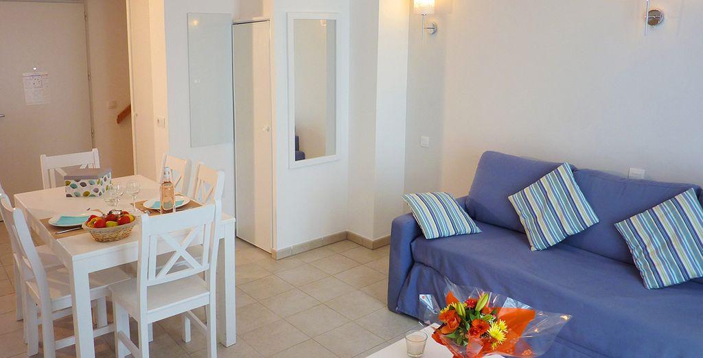 Votre appartement ou maisonnette vous fera apprécier un confort optimal