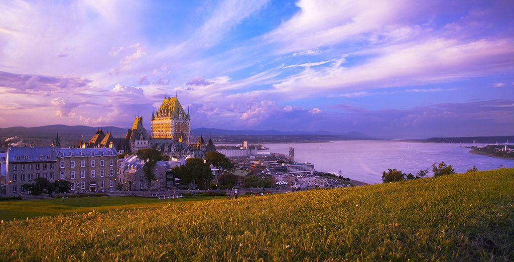 Longez le St Laurent jusqu'à l'historique ville de Québec