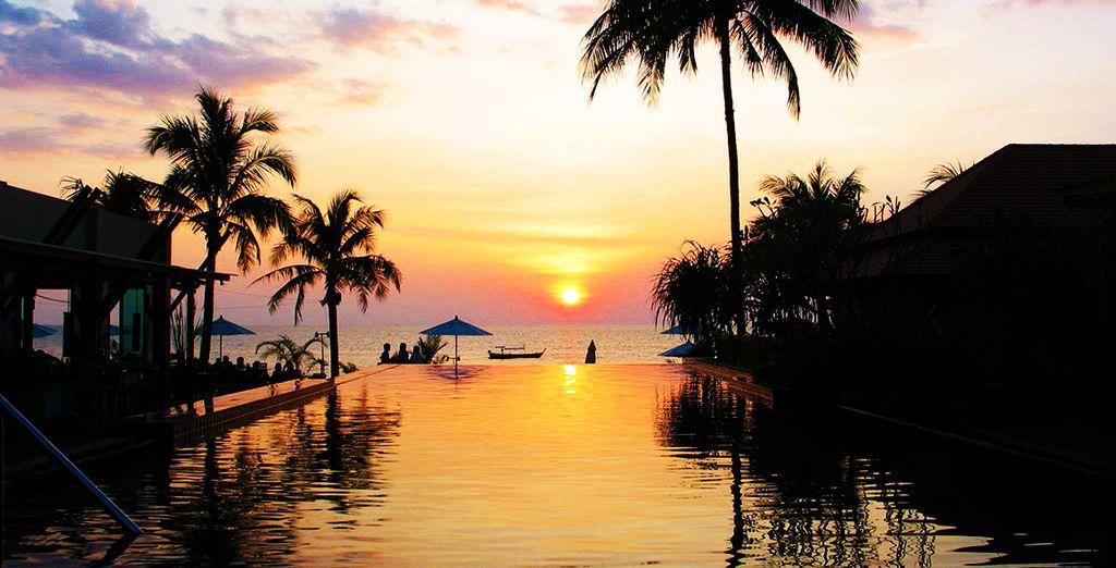 Admirez les somptueux couchers de soleil