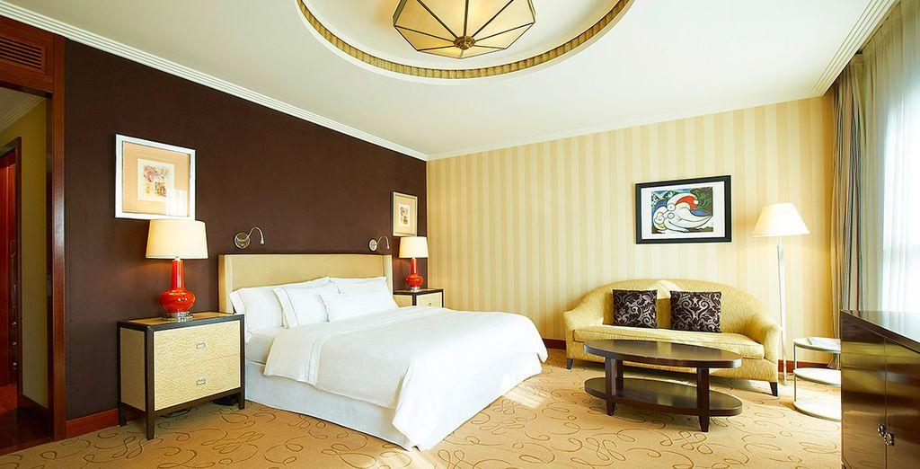 Posez vos valises en chambre Deluxe, élégante et spacieuse