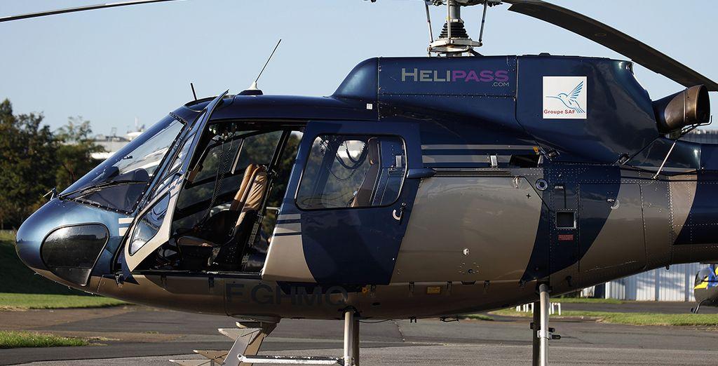 En optant pour un survol en hélicoptère