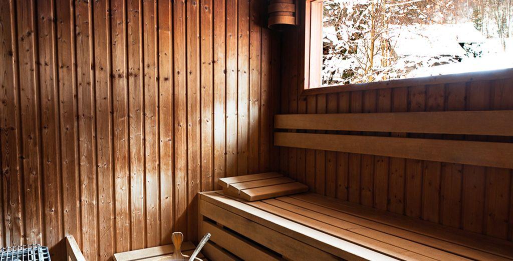 Complétez ces instants de bien-être avec une séance de sauna