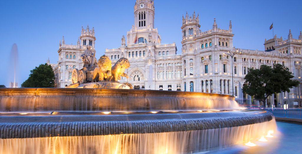 Monument historique, la Porte d'Acala à Madrid