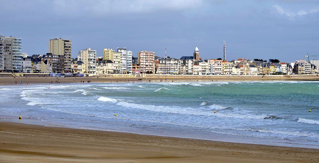 Depuis la plage des Sables d'Olonnes...