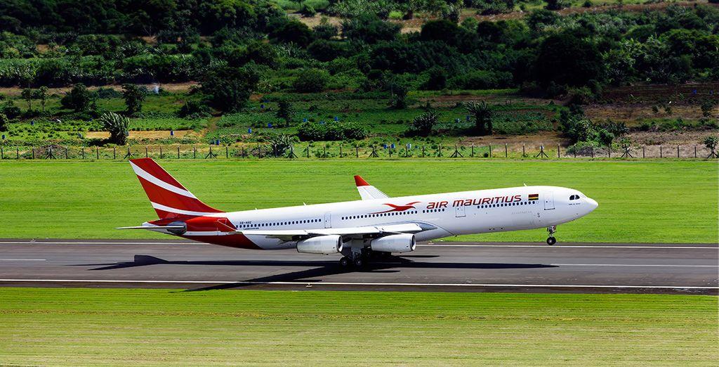 Enfin, choisissez de vous envoler à bord d'un appareil Air Mauritius...