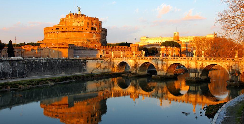 Mais aussi le Castel di Angelo sur les bords du Tibre