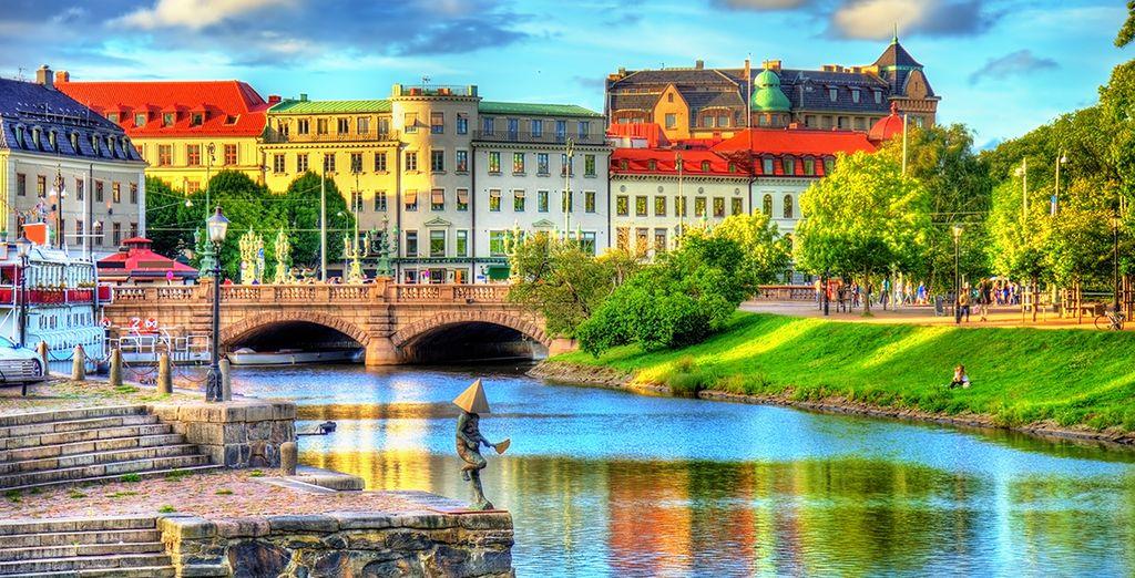 Photographie de la ville de Götebord en Suède